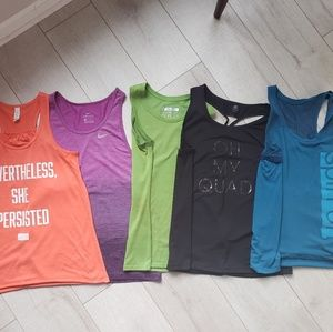 LOT of 5 small workout tanks